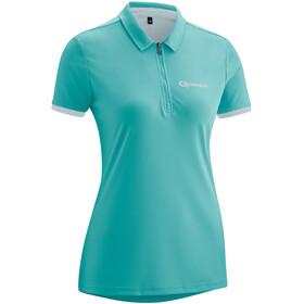 Gonso Litha Fiets Poloshirt Korte Mouwen Dames, latigo bay/pearl blue